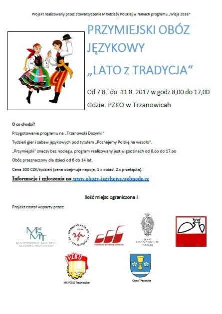 Zaproszenie - obóz PZKO TRZANOWICE 2017