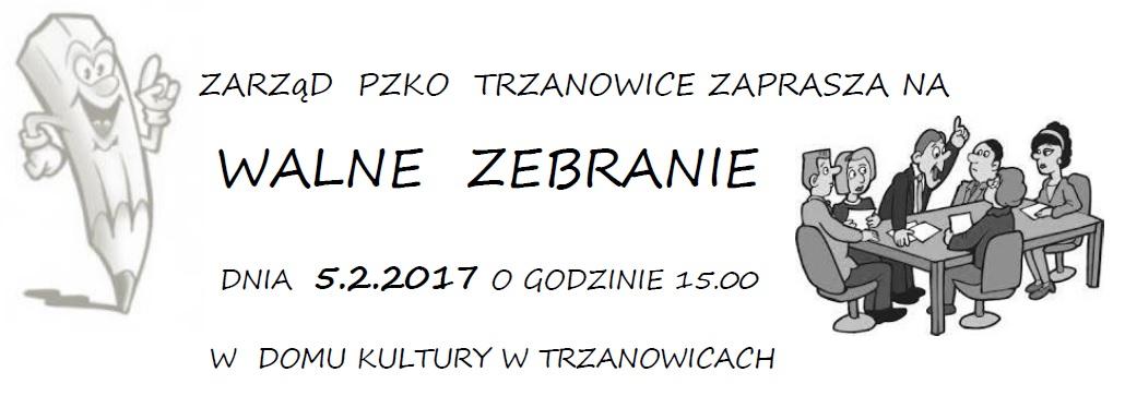 Zaproszenie - walne zebranie 2017